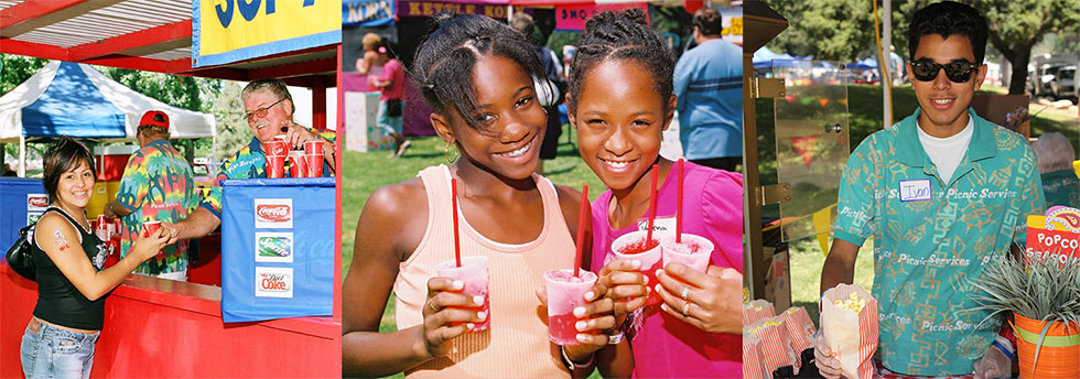 Concessions for company picnics-satisfied customers